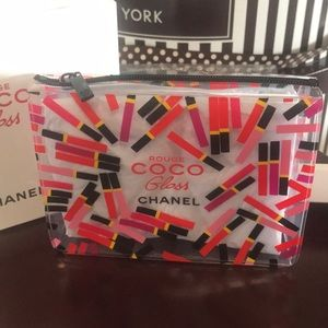 Chanel VIP mini crossbody bag rouge coco gloss